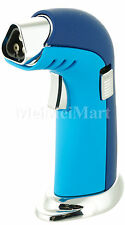 Triple Torch Table Top Jet Lighter Butane Gift Box Blue Color m326bl