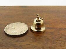 Vintage gold 3D CHRISTMAS WORKING MOVABLE CHURCH BELL BRACELET charm LAST ONE #F
