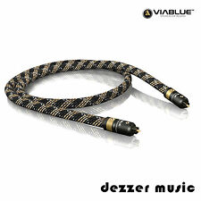 ViaBlue 1m H-FLEX optisches Toslink-Kabel / Digitalkabel / 1,00m...HIGH END