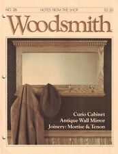 Woodsmith 1983 No 26 Curio Cabinet, Antique Wall Mirror, Joinery Mortise & Tenon