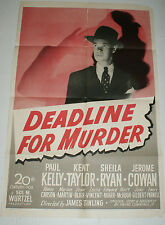 DEADLINE FOR MURDER 1946 one sheet movie poster U.S. Original 27 x 41 FILM NOIR