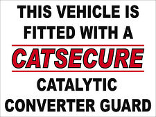 2 x Catalytic Converter Guard Anti Theft Sticker To Stop Theft From Vehicles