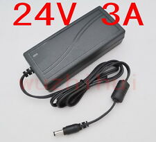 AC 100V-240V Converter Adapter DC 24V 3A 72W Power Supply Charger DC 5.5mm New