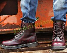 Mens Retro Lace Up Oxfords British Casual Motorcycle Military Ankle Boots Shoes