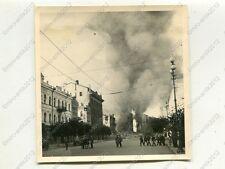 Foto, Wehrmacht, Strassenszene im brennenden Kiew, Russland, a  (W)1287