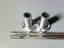 "2 x 8mm 15"" Hardened Shafts with 2 LMF8L Rod Rail Long Linear Bearing Motion"
