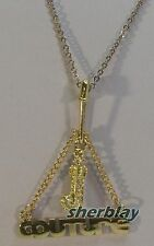 "JUICY COUTURE CHARM LINK Pendant NECKLACE Letter ""J"" Name ""COUTURE"" Held Pin"