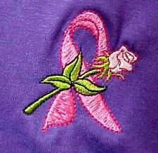 Pink Ribbon Sweatshirt 3XL White Rose Purple Breast Cancer Crew Neck Unisex New