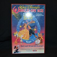 Walt Disney's Beauty And The Beast World On Ice Wall Plaque 1995 Collectable