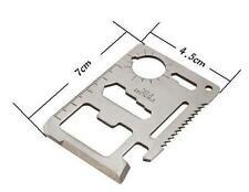 Multi Tool 11in1 Hunting Survival Camping Pocket Military Credit Card Knife