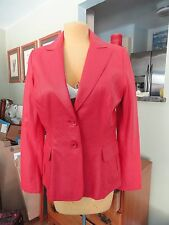 Banana Republic, Softest Leather Jacket EVER!! -10- Tomato Red, Fully Lined, FAB