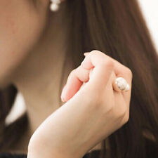 New Sexy Fashion Elegant Lady Style U-shaped Opening Size Pearl Adjustable Rings