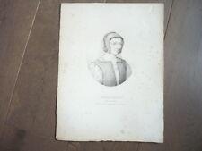 GRAVURE 1820 MARGUERITE REINE DE NAVARRE
