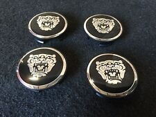 NEW JAGUAR JAG SET OF 4 PCS CENTER WHEEL WHEELS RIM RIMS CAP CAPS 59MM BLACK NL
