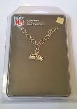 Seattle Seahawks NFL Silver Tone Logo Charm Bracelet