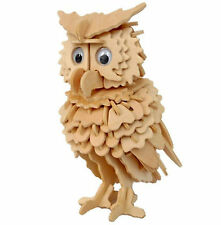 OWL DIY 3D Jigsaw Realistic Wooden Model Construction Kit Toy Puzzle Gift