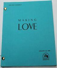 Making Love * 1981 Movie Script * Michael Ontkean, Kate Jackson, Harry Hamlin