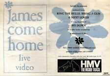 20/4/91 Pgn28 Advert: James come Home A Live Video In Hmv Stores Now 7x11
