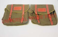 CUSTOMIZED ROYAL ENFIELD  HARLEY MILITARY GREEN  SIDE SADDLE BAG SET