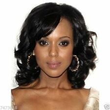 Stylish Short Black Curly 100% Real Hair! For Women Wig Hair