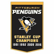 2016 PITTSBURGH PENGUINS STANLEY CUP CHAMPS DYNASTY BANNER CROSBY MALKIN