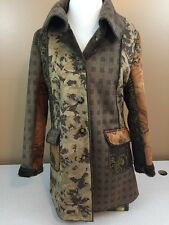Outdoor Edition by Parkhurst Brule Patchwork Swing Coat w/ Faux Fur Lining - M