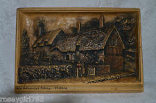 "ANTIQUE SIGNED DE BLOIS ""IVOREX PLAQUE""3-D MADE IN ENGLAND-Antique OSBORNE 1912"