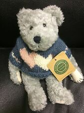 "Boyds Bears Plush~ FLOYD~ Valentine Bear w/Heart sweater ~ 9"" Gray Bear #917321"