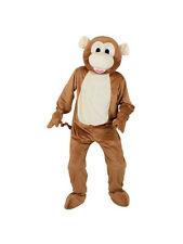 Adulto Cabeza Grande Cheeky Monkey Fancy Dress Mascota Traje Selva Animal Unisex millones de EUR