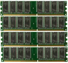 4GB 4X 1GB DDR PC3200 4 GB PC 3200 400 LOW DENSITY DESKTOP MEMORY RAM DUAL KIT