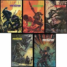 Aliens vs Predator 1990 Comic set #0-1-2-3-4 Lot Dark Horse AvP Bagged & Boarded