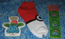 New Pokemon Pokeball Socks Gift Lot Authentic Great Items Next Day USA Shipping