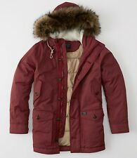 NWT  Abercrombie & Fitch Vintage Inspired Parka Down Jacket men's size XXL SAVE!