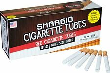 Shargio Red (Full Flavor) King Size Cigarette Tubes - 2 Boxes