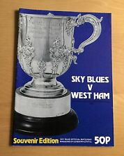 1980/1981 LEAGUE CUP SEMI FINAL Coventry v West Ham 10/2/1981 Souvenir Edition