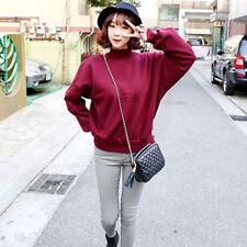 Plus Size Womens Fashion Hoodies Casual Plain Sweatshirt Pullover Outwear Tops