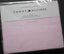 Tommy Hilfiger PINK STRIPE 4pc QUEEN BED SHEET SET Ithaca Oxford XDP COTTON Poly