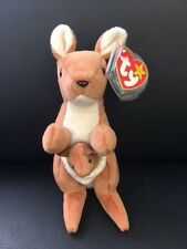 Ty Beanie Baby Pouch Kangaroo W Baby New Rare Original Collectable