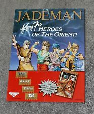 Jademan Kung Fu #1 1988 Tony Wong Hong Kong Drunken Fist Comic PROMO Poster VF