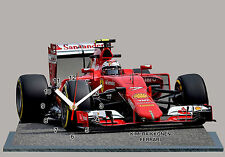 MODEL CARS, FORMULA ONE 2015, F1, KIMI RAIKKONEN, FERRARI with Clock