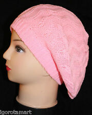 Girls Women Beret Slouch Caps Baggy Knit Beanie Benny Hat Cap Girls Hats UK