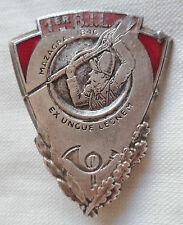 Insigne 1° BIL Bataillon Infanterie Légère Afrique Disciplinaire 1939 ORIGINAL