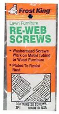 Thermwell Frost King, 5 Packs of 20 Webbing Screws, For Lawn Furniture Repair