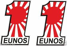 2x EUNOS mazda japanese flag decals sports car van bus truck Sticker Scooter dub