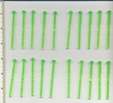Star Wars LEGO x 20 Trans-Bright Green Bar 8L with Round End Spring Shooter Dart