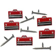 TOOL BOX AND NAIL  BRADS  **  EYELET OUTLET  8 PCS  CONSTRUCTION REPAIRS