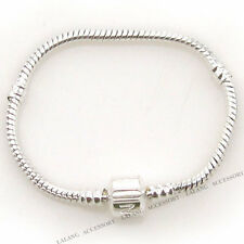 2pcs Silver Plated Snake Chain Bracelet Fit Charms Beads 15cm Jewelry Making 6A