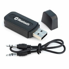 Bluetooth USB Empfänger 3.5mm Stereo Audio Musik Receiver Adapter schwarz AUX IN