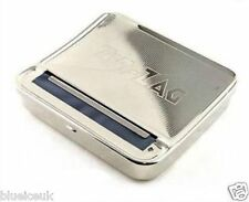 Zig Zag Automatic Rolling Machine Silver Smoking Tobacco Case Tin Roller UK