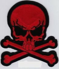 """Large Pirate Skull/X (R) Embroidered Patch 8.5""""x7.5"""""""